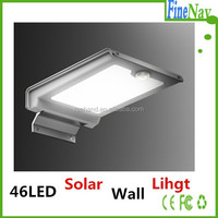 IP65 Waterproof led solar with motion sensor function, solar wall light for garden