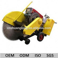 1000mm blade diesel road surface cutter with cranking handles