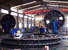 Stator and rotor components of wind power generator