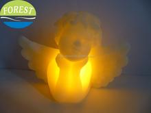 led angel candle,angel shape candle wax,decoration light