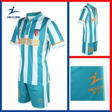 Healong digitally printed cut and sew full dye sublimation Sublimation Soccer Uniforms plain