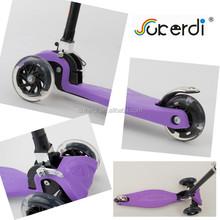 2015 new CE EN71 3 wheel folding manual pedal push 120/80mm kids kick scooter