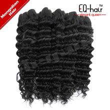 Alibaba top grade weave 5a Mongolian Deep curly virgin picture woman