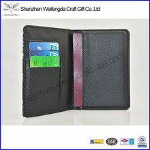 Custom printed pu leather passport wallet with RFID