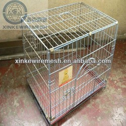 Zoo pets cages anti rain dog cages with roofs heavy duty metal panels