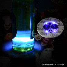For the party of Hallowmas day LED flashing sticker blue light coaster for cup&bottle