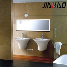 Hot! Sanitary Ware Modern Design Bathroom Ceramic One Piece Wall hung Wash Hand Basin 5300B