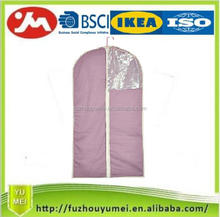 High quality hanging suit cover with zipper