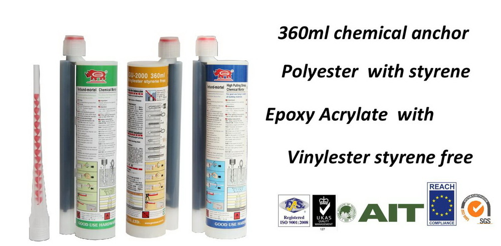 360ml vinylester chemical ground anchor