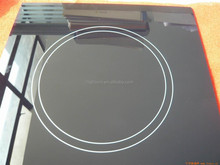 Black ceramic glass panel with white printing for induction cooker