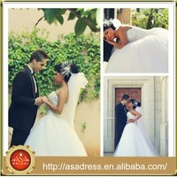 SMA50 Best Design Strapless Dubai Fully Pearls Beading Wedding Dress vestidos de novia from Turkey