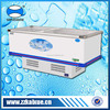 Large capacity supermarket display freezer for frozen meat, chicken and sea food