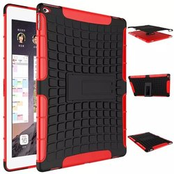 Tire Pattern Combo Armor Case for iPad Pro Hybird Kickstand Bracket Stand Cover Hard PC Back Case