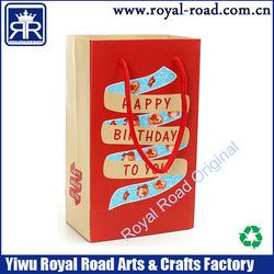 China manufacturer customize luxury hot stamping 3d christmas door paper gift bag