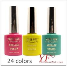 Good quality 24 colors soak off uv led nail gel polish