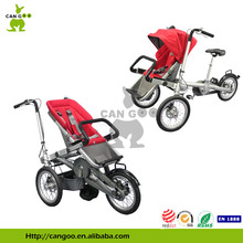 """Foldable Wagon Stroller Baby Pram Tricycle With 16"""" Wheel"""