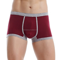 2015 Top Quality Pure Colour Sexy Boy Modeling Underwear With Elastic Waistband Boy Teen Underwear New Design Boxer Man