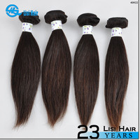 2015 Best Selling leading hair maufacturer Double Weft no shedding straight indian human hair