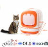 Hooded Cat Litter Pan Cat Litter Box Pet Clean Up Products