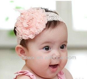 bebek ve bebek çiçek tığ saç bandı