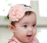 infant & baby crochet headband with flower