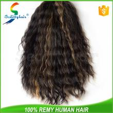 OEM manufacturers Deep Wave hair gray hair wig for men