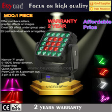 Hotsale 25x4in1 15w RGBW sharpy beam moving head light offers the option display numbers,letters,graphic effects or images