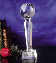 map carving crystal glass trophy MH-JB141