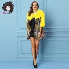 2015 Furnix women's colorful fox fur coat