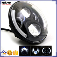 "BJ-HL-017 Ultra bright Waterproof Round 7"" HID LED Projector Head light for Motorcycle Harley Davidson"