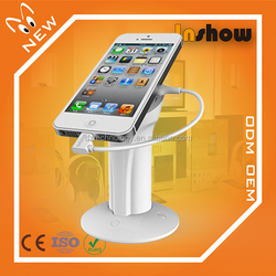 Mobile phone security sensor cell phone display holder with retractable anti-theft pull box