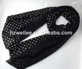 Wlhh- 26 elegantes mulheres spot impresso tecido chiffon de seda lenço schal