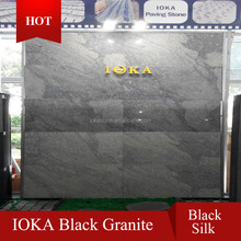 Chinese cheap natural amber black stone, black stone with white