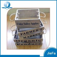 storage wooden box / wooden crate /wooden container for home, market, shops, set of 3, paulownia