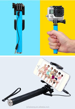 Cheap price Universal 1/4 Screw mount superme mini wired selfie stick pen size for iphone