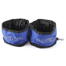 Camping Hiking Travel Double Pet Food Water Bowl