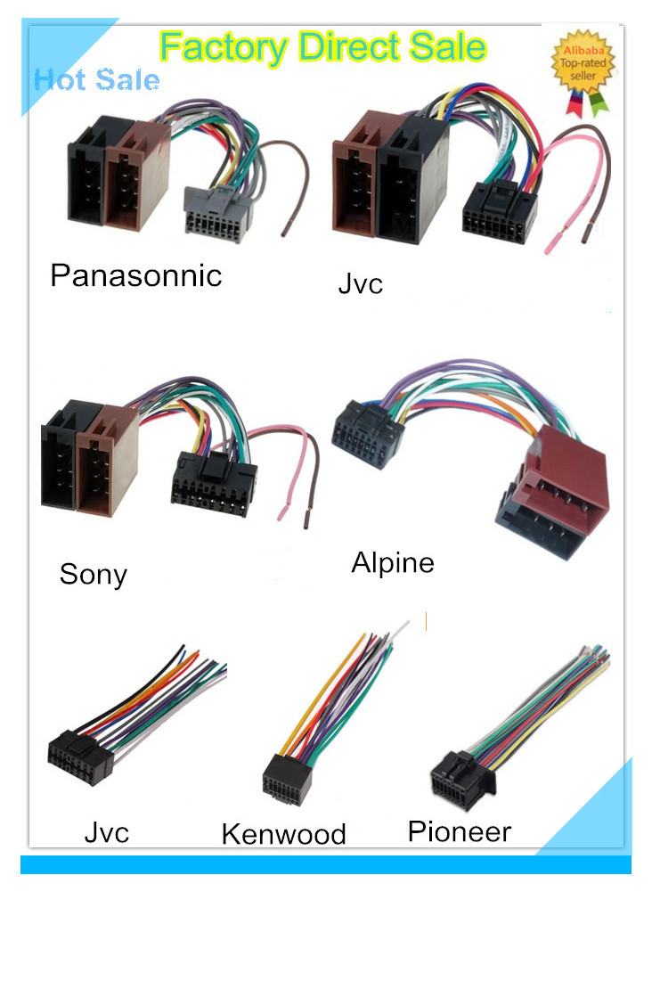 Top Factory Universal Car Install Hyundai Kia Parrot Radio Iso Kenwood 16 Pin Wiring Harness Jvc Pioneer Hot Sale Wire