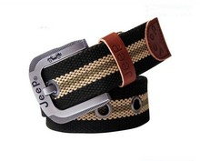 Fashion Accessories adjustable fabric belts, webbing durable belt, canvas belt with outdoor style zinc alloy buckle
