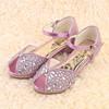 New design stylish high quality shinning children girls sandals 2015