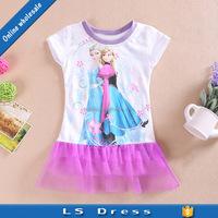 frozen cotton frocks designs girl cute baby dress