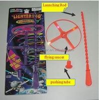 novelty kids plastic hot selling flying ufo toy flashing led ufo toy