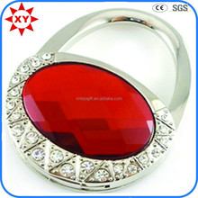 Fashion crystal handbag red stone bag hanger