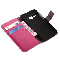 Luxury PU Leather Flip Case Wallet Cell Phone Cover Bag Accessories for HTC one M7 / M8 / M8 mini / M4 / Desire 310