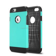 2015 new products armor hybird plastic &silicone cover for iphone 6 cases wholesale in guangzhou