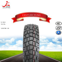 high quality Tubless motorcycle tire 110/90-16 with the new popular pattern made in china own factory