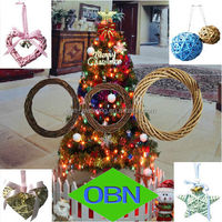 Hot sale Newest natural willow wire wreath frame Christmas decoration
