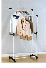 mobile double rail garment rack doble carril de estante de la ropa(model:GLT3230W)