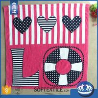 Cheap wholesale 100 cotton beach towels with CE certificate