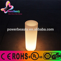 2015 glowing LED flower pot pillar for wedding decoration/illuminated plastic decorative flowr pot for party decor