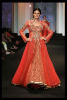 Orange HandWork Designer Embroided Anarkali Suit